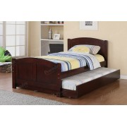 2 pc Trista collection cherry finish wood twin trundle bed