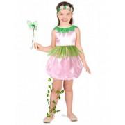 Vegaoo Groen-roze fee kostuum voor meisjes 104/116 (4-6 jaar)