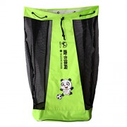 Anbau Durable Big Mesh Football Carry Bag Soccer Rugby Sports Ball Mesh Sack Green Fits 15 Soccer Balls(NO. 5)