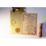 Invitatie nunta cu sigiliu OPIS050