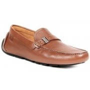 Clarks Davont Saddle Tan Leather Loafers For Men(Brown)