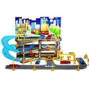 LIKE Hot Wheels Garage Playset- Vehicle Playset- Play Vehicle-Die-Cast Vehicles by Car Playset