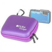 DURAGADGET Purple EVA Camera Case For Nikon COOLPIX P300 S9100 S3100 COOLPIX L23 COOLPIX AW120 COOLPIX P340 COOLPIX S810c