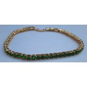 Bratara Luxury Anebris Green Brilliant Crystal