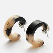 Whistles Women's Mini Tort Hoop Earrings - Cream/Multi
