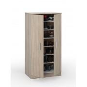 Zap Oak Effect 6 Shelves Shoe Cabinet