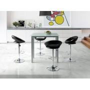 Mesa de cocina alta extensible leiria cristal blanco pi-040a