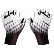 One Pair Half Finger Biking Gloves Shock-Absorbing Mountain Bike Gloves - White/Size: M