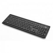 Мултимедийна клавиатура Fujitsu KB410 black, тънка, USB - FUJ-KEY-S26381-L409