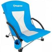 Стол за къмпинг KING CAMP Deluxe, сгъваем, син, MAS-KC3841-blue