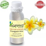 KAZIMA Frangipani Attar Perfume For Unisex - Pure Natural (Non-Alcoholic) (30ml)