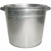 Geen Zilveren zinken drankemmer/drankkoeler 37 liter