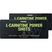 PowGen L-Carnitine Power Shots 2 cajas Chupitos de L-Carnitina líquida Carnipure® Sabor a limón 2x 10 viales (1000 mg L-Carnitina por vial)