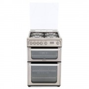 Hotpoint Ultima HUG61X Gas Cooker with Double Oven - Stainless Steel