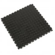 PVC-Bodenplatte mit genoppter Oberfläche, VE 8 Stk schwarz