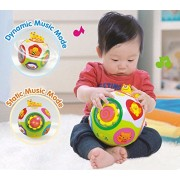 GoAppuGo Educational toddlers Musical ball toy with automatic rotation, lights, music, animals sounds toys