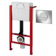 Rezervor WC ingropat/incastrat WIRQUIN PRO cu sistem de prindere si clapeta crom lucios
