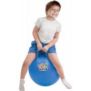 Pachet Minge saltareata Bleu 45 cm+Spatiu de joaca gonflabil +50 bile