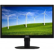 "Monitor IPS LED Philips 23"" 231B4QPYCB/00, Full HD (1920 x 1080), DVI-D, DisplayPort, 7ms GTG, Boxe (Negru)"