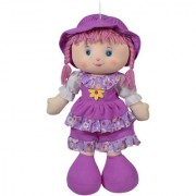 Ultra Cute Adorable Baby Doll Soft Toy Purple 24 inches