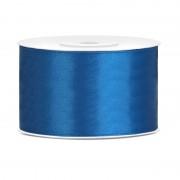 Merkloos 1x Hobby/decoratie blauw satijnen sierlinten 3,8 cm/38 mm x 25 meter