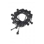 Ljusslinga Bright light string, 12 m Svart
