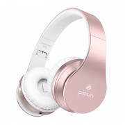 PICUN B16 Over-ear Headset Bluetooth Foldable HeadphoneSupport TF Card / Aux-in - Rose Gold