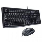 Комплект клавиатура и мишка Logitech Desktop MK120, черни, USB, кирилизирана по БДС