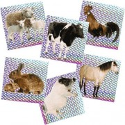 """144 (1 Gross) ~ Barnyard Animal Prism Stickers ~ Approx. 1.25"""" ~ Assorted Farm Animals ~ New ~ Sheep"""