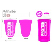 ProteinFutár Wave Shaker 600ml Magic Magenta