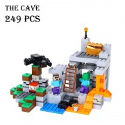 Model building kits compatible with lego 21113 18016 my worlds MineCraft The Cave Educational toys hobbies for children