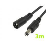 NTR CAB78 DC 5,5x2,1mm dugó - DC 5,5x2,1mm aljzat hosszabbító kábel 3m