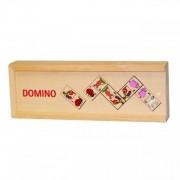 Joc de societate Domino Animale Goki, 28 piese, cutie lemn, 3 ani+