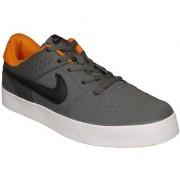 Nike Men's Liteforce III Grey and Orange Sneakers