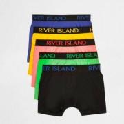 River Island Mens Blue multicolour RI boxers multipack - Size L (EU)