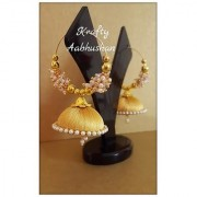 Gorgeous golden hoop jhumkas for women