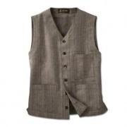 Hollington Waistcoat, Tweed, 40 - Brown/Beige