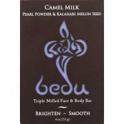 Bedu Face and Body Bar - Pearl Powder and Kalahari Melon Seed - Case of 6 - 4 oz.