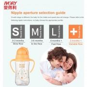 EH Resistente Al Calor De Marfil Sin BPA 240ml Botella De Agua El Bebé Lactante Con Paja Automática