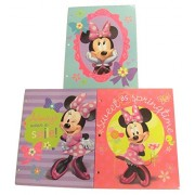 Disney Minnie Mouse Bow-tique Folder 3 Pack ~ Mirrors & Bows, Always Wear a Smile, Sweet as Springtime
