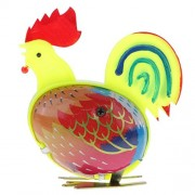 ELECTROPRIME® Retro Jumping Cock Clockwork Metal Tin Toy Collectible Gift Wind Up to Jump