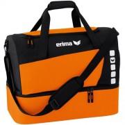 erima Sporttasche 5-CUBES (mit Bodenfach) - orange/schwarz | M