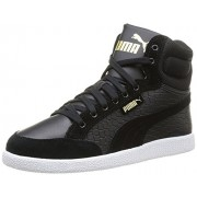 Puma Women's Puma Ikaz Mid Dazz Black and Team Gold Sneakers - 5 UK/India (38 EU)