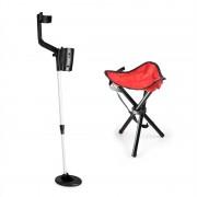 DURAMAXX Basic Red, комплект за търсене на съкровища, детектор за метал + къмпинг стол, 16,5 см сонда (PL-KGS-B_v2)