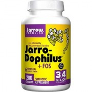 Jarrow Formulas Jarro-dophilus and FOS+E211 For Intestinal and Immunal Support 3.4 Billion cells per Capsule 200 Caps