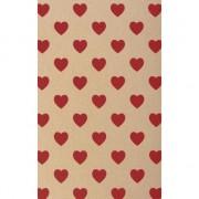 Rayher hobby materialen Hobby karton met rode hartjes