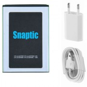 Snaptic Li Ion Polymer Replacement Battery for Micromax Bolt Q326 with USB Travel Charger