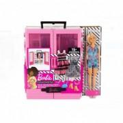 Barbie Dulapul suprem roz cu accesorii si papusa set de joaca
