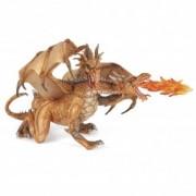 Dragon auriu cu 2 capete - Figurina Papo
