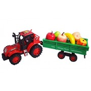 Super Power Truck With Fruits Trolley Toy for Kids Best Toy For Kids Pull Back Truck with Fruit set in cart